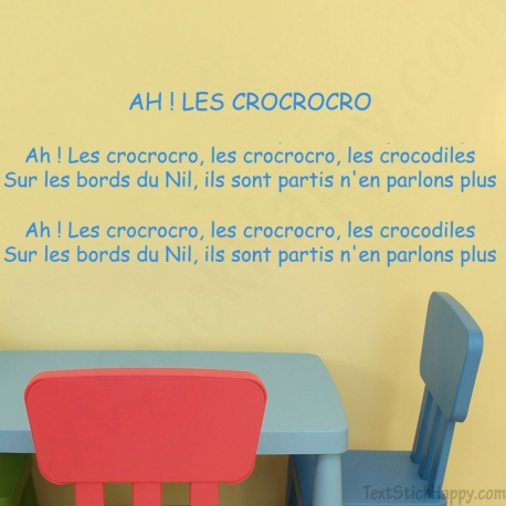 Stickers comptine Ah les crocrocro