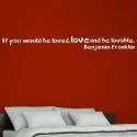Stickers citation en anglais sur l'amour