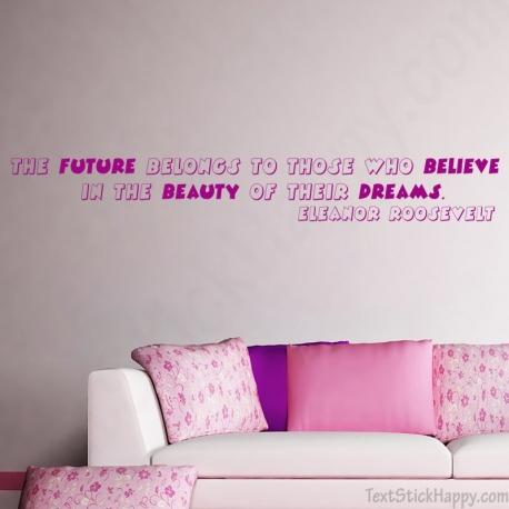 Stickers citation anglais rêve