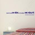 Stickers citation fais de ta vie un rêve