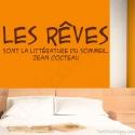 Stickers citation littérature du sommeil