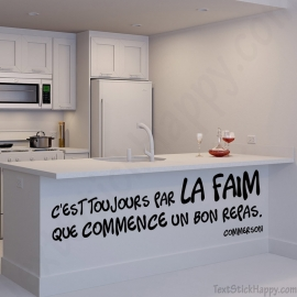 Stickers citation repas faim