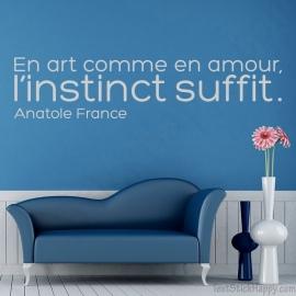 Stickers citation amour instinct