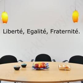 Stickers liberté, égalité, fraternité