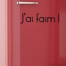 Stickers frigo j'ai faim