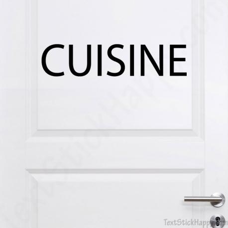 Stickers porte de cuisine