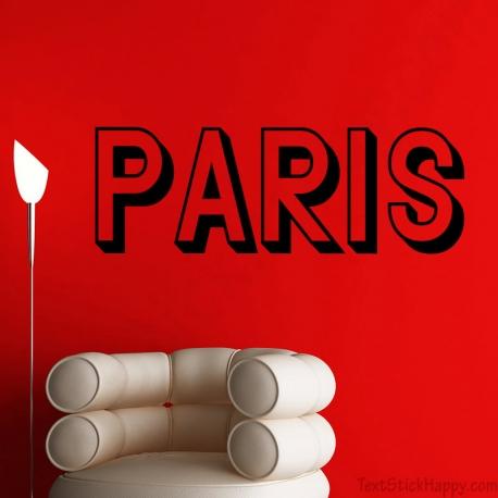 Stickers texte Paris