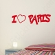 Stickers I love Paris coeur