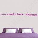 Stickers citation remède à l'amour