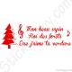 Stickers chanson de Noël