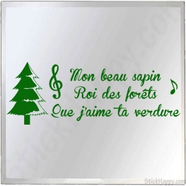 Stickers chanson de Noël