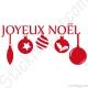 Stickers boules de Noël
