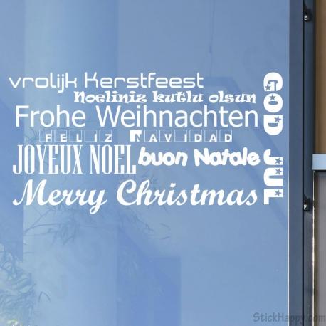 Stickers Joyeux Noël dans toutes les langues