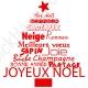 Stickers sapin de Noël en texte