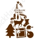 Stickers sapin de Noël