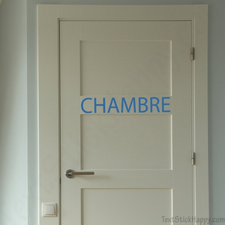 Stickers porte de chambre for Stickers porte dressing