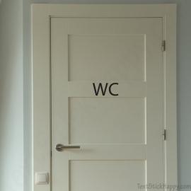 Stickers porte de wc