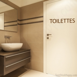 Stickers porte des toilettes