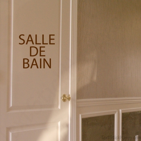 Stickers Porte Salle De Bain StickHappycom - Porte de salle de bain