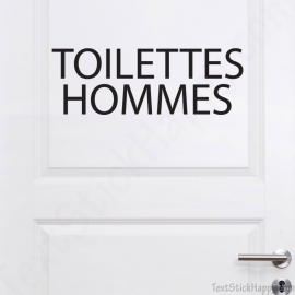 Stickers porte toilettes homme