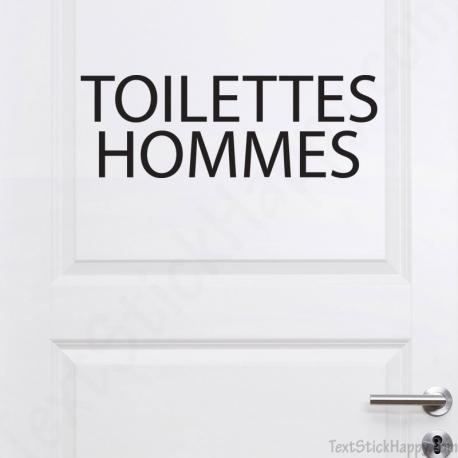 Stickers porte toilettes homme