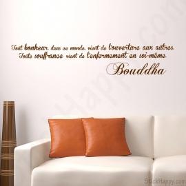 Stickers Bouddha bonheur