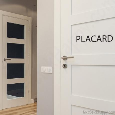 Stickers porte de placard