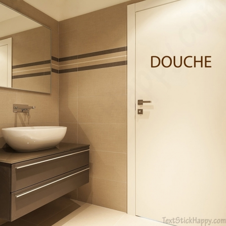 Stickers porte douche