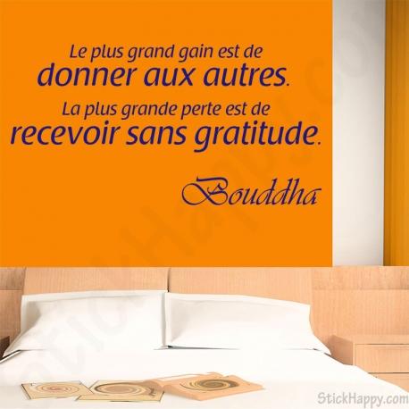 Stickers citation Bouddha donner recevoir