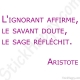 Stickers citation sagesse