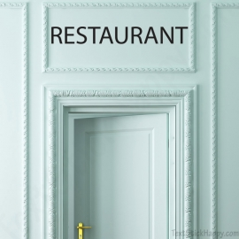 Stickers porte restaurant