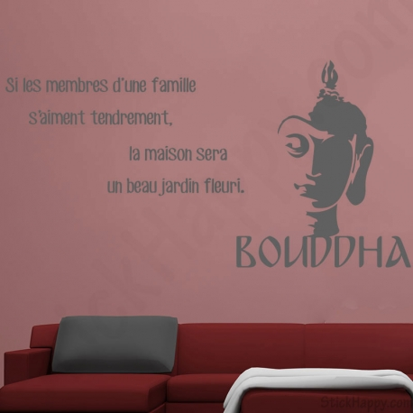 Stickers Bouddha famille