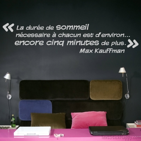 stickers d co mur peint citation c l bre sur le sommeil. Black Bedroom Furniture Sets. Home Design Ideas
