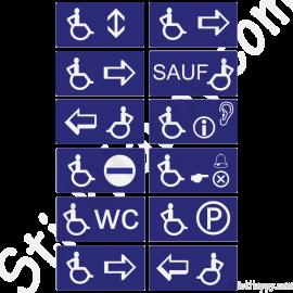 Stickers handicapés pictogrammes