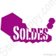 Stickers soldes magasin vitrine