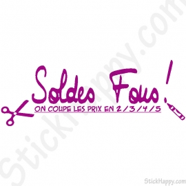 Stickers soldes fous
