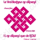 Stickers citation Dalaï lama nœud éternel