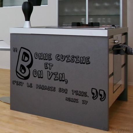 stickers citation pour cuisine stickers. Black Bedroom Furniture Sets. Home Design Ideas