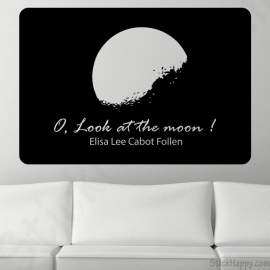 Stickers quote moon
