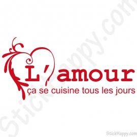 Stickers amour cuisine tous les jours
