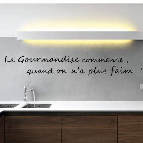 stickers d co cuisine citation gourmandise. Black Bedroom Furniture Sets. Home Design Ideas