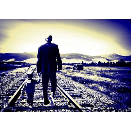 """Création Photographique """"l 'homme et l' enfant par Archi-StickHappy.com"""