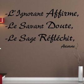 Stickers citation sur la Sagesse