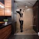 """Stickers déco vitre de douche, découpé """"Le Nu de femme""""-StickHappy.com"""