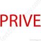 Stickers porte privé