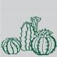 Cactus adhésifs pour mur - StickHappy