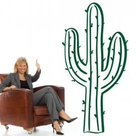 Cactus type western en adhésifs découpé - StickHappy