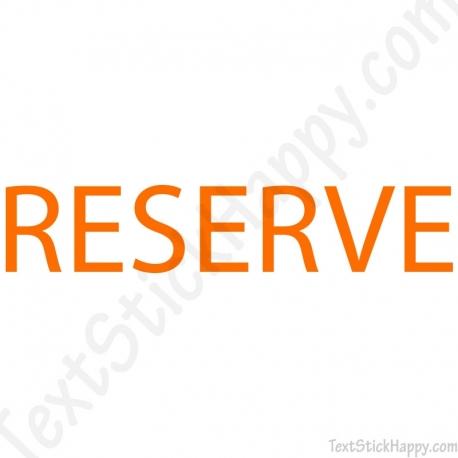 Stickers porte de réserve