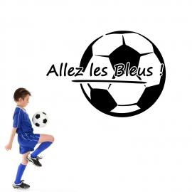 Autocollant foot - Allez les bleus