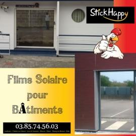 Film solaire pour vitres bâtiment - StickHappy